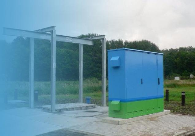 Buitenkasten van Staka voor gebruik in de polder